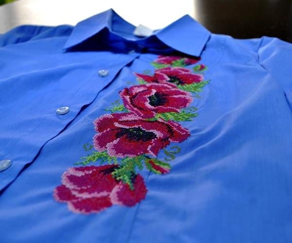 Промышленная вышивка на ткани